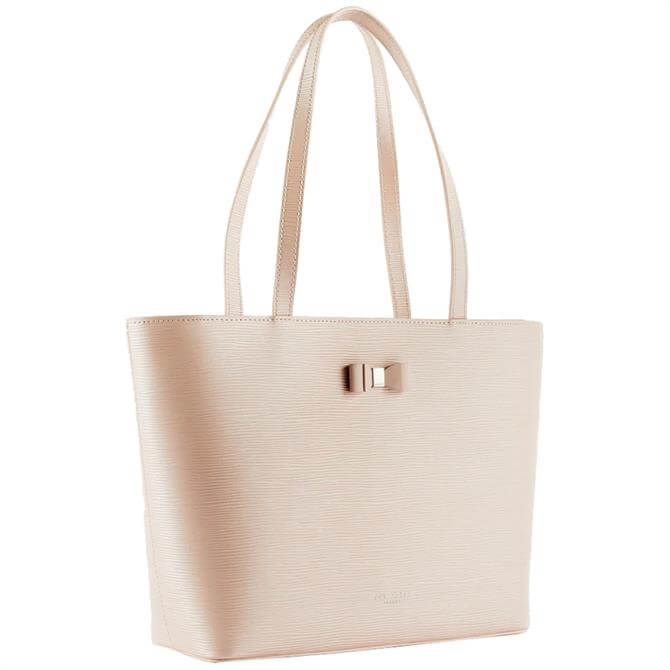 Ted Baker Demmiee Dusty Pink Leather Shopper Bag