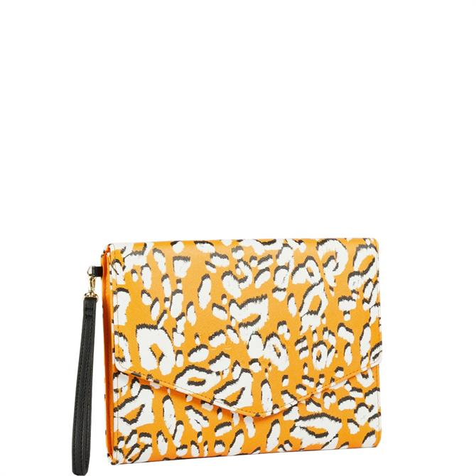 Ted Baker Lydiiaa Saffiano Leopard Envelope Pouch