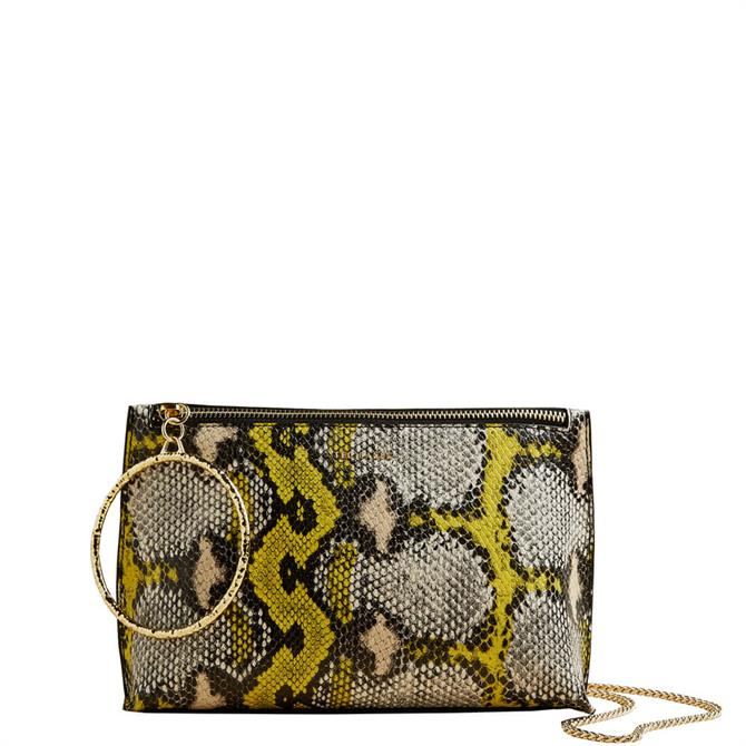 Ted Baker Imanie Exotic Leather Bracelet Clutch Bag