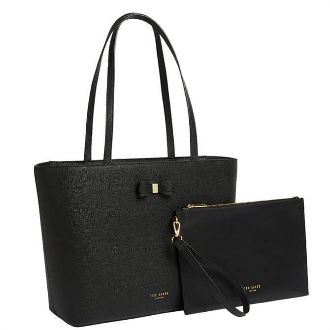 Ted Baker Aveeda Bow Black Shopper Bag