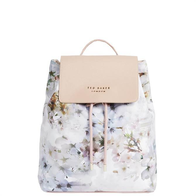 Ted Baker Sukkii Vanilla Print Drawstring Backpack