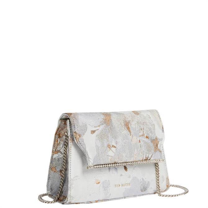 Ted Baker Viiera Vanilla Jacquard Crystal Bar Evening Bag
