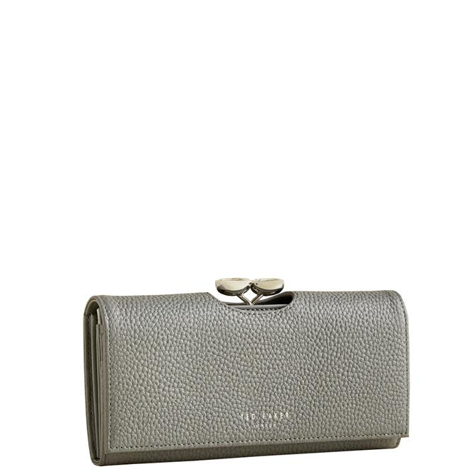 Ted Baker Alyysaa Grey Leather Bobble Matinee Purse