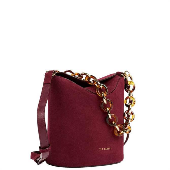Ted Baker Brookks Resin Chain Mini Red Bucket Bag