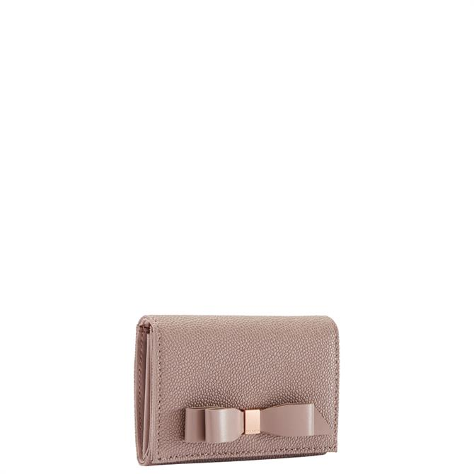 Ted Baker Leonyy Pink Bow Flap Mini Leather Purse