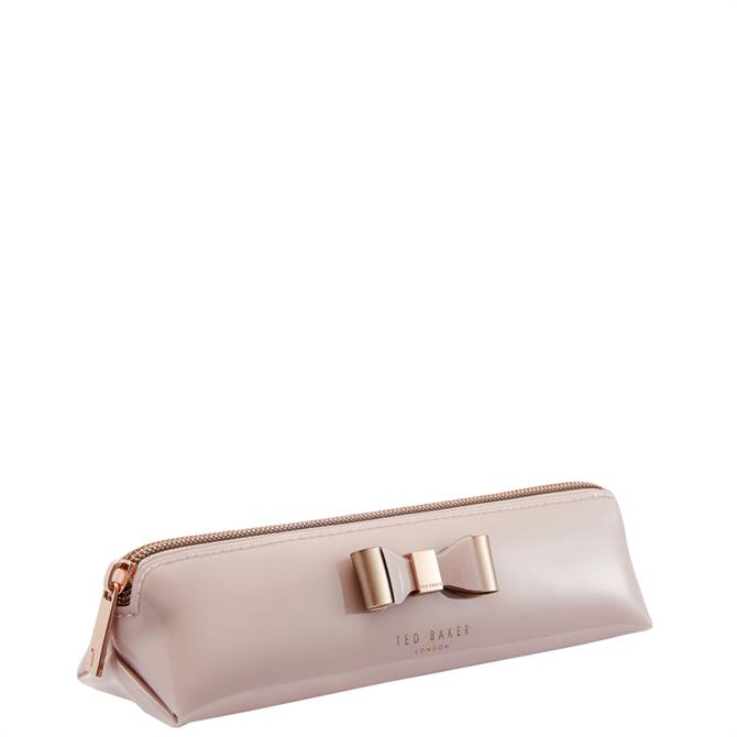 Ted Baker Vals Pink Core Bow Pencil Case