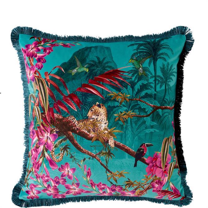 Ted Baker Hibiscus Jade Cushion
