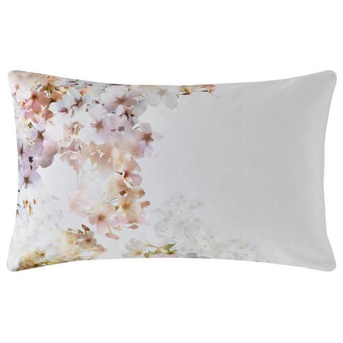 Ted Baker Vanilla Pastel Floral Pair of Standard Pillowcases