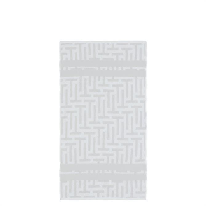 Ted Baker Tessellating T White Towel
