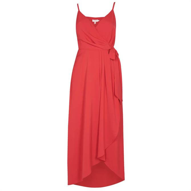 Ted Baker LEAANAH Sleeveless Wrap Dress_Coral