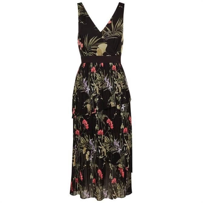 Ted Baker MALINAE Highland Tiered Pleated Midi Dress