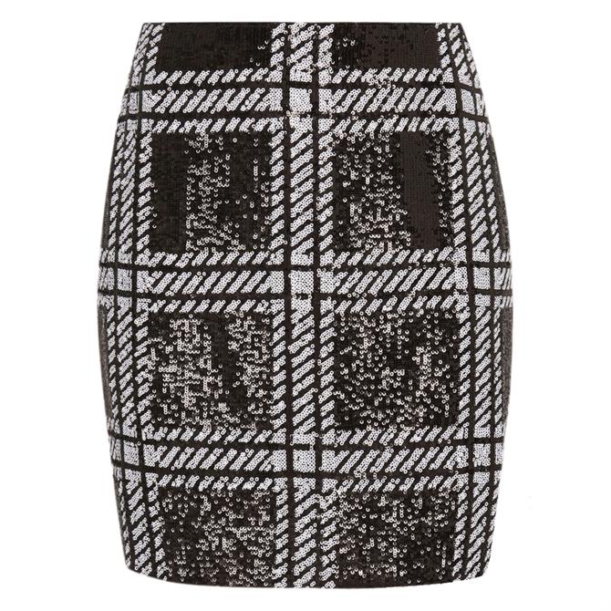 Ted Baker HOOPSS Check Sequin Mini Skirt