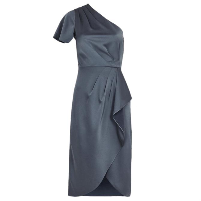 Ted Baker RIDAH Waterfall Skirt One Shoulder Dress