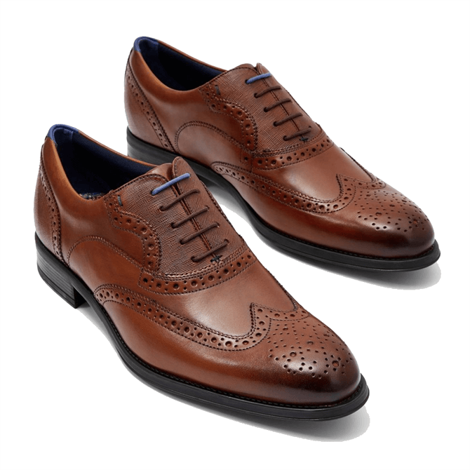 Ted Baker Mitack Leather Wingcap Brogues in Tan