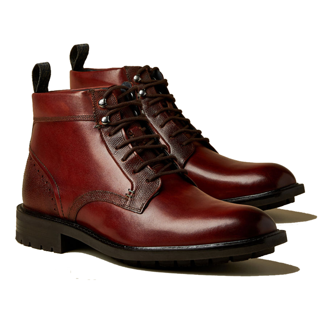 Ted Baker Wottsn Leather Lace Up Boots in Tan