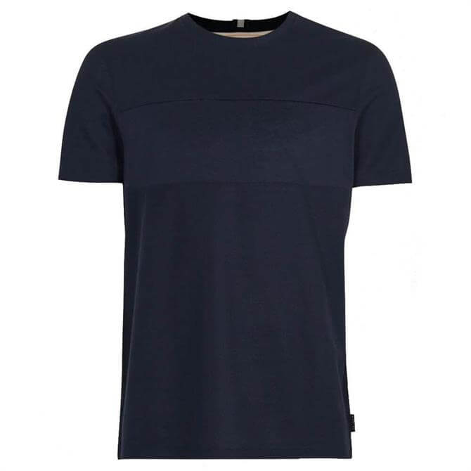 Ted Baker Helter Navy Cotton Panelled T-Shirt