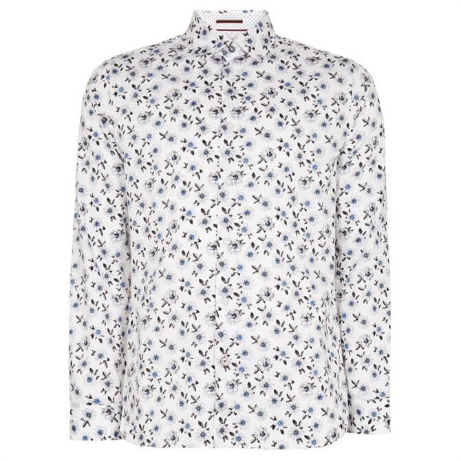 Ted Baker Wewill White Floral Printed Shirt