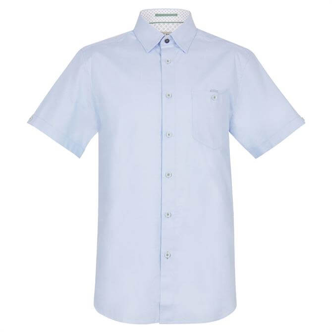 Ted Baker Cotton Oxford Short Sleeve Shirt