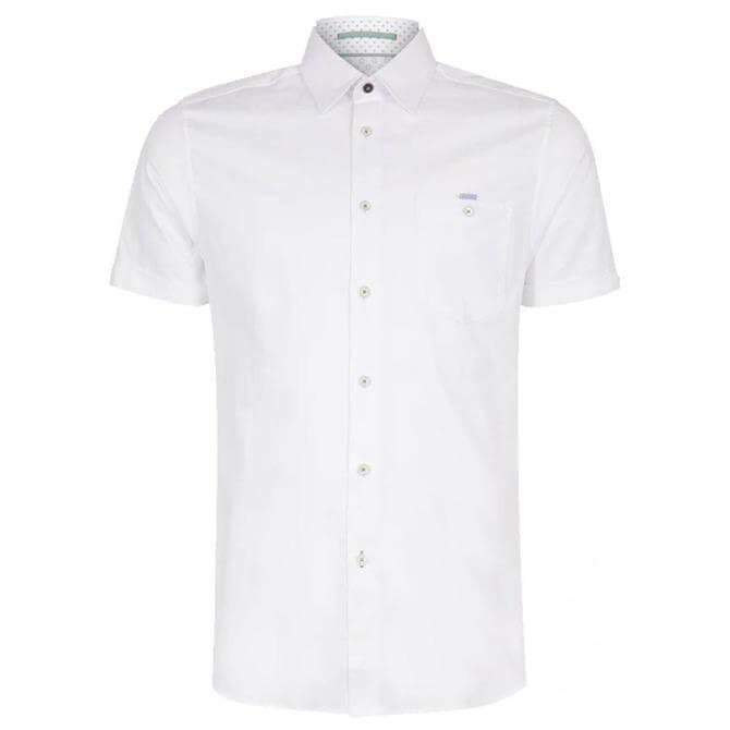Ted Baker Cotton Oxford Short Sleeve Shirt