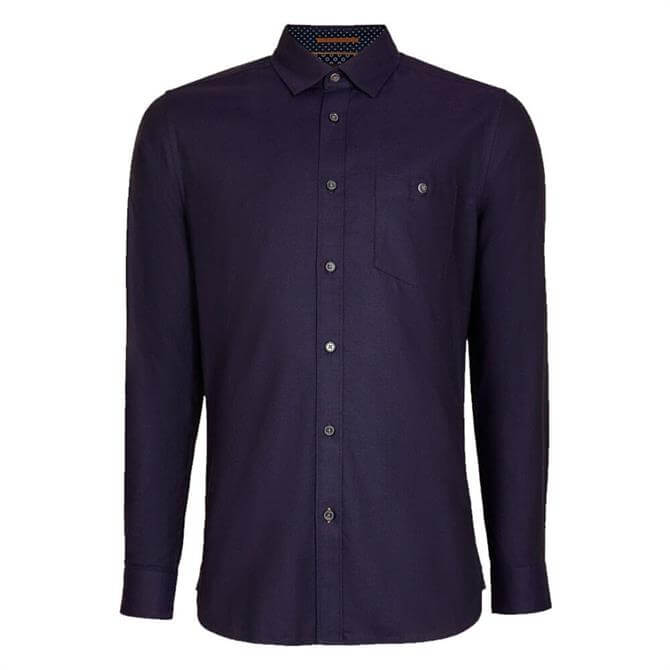 Ted Baker Yesway Navy Cotton Oxford Shirt