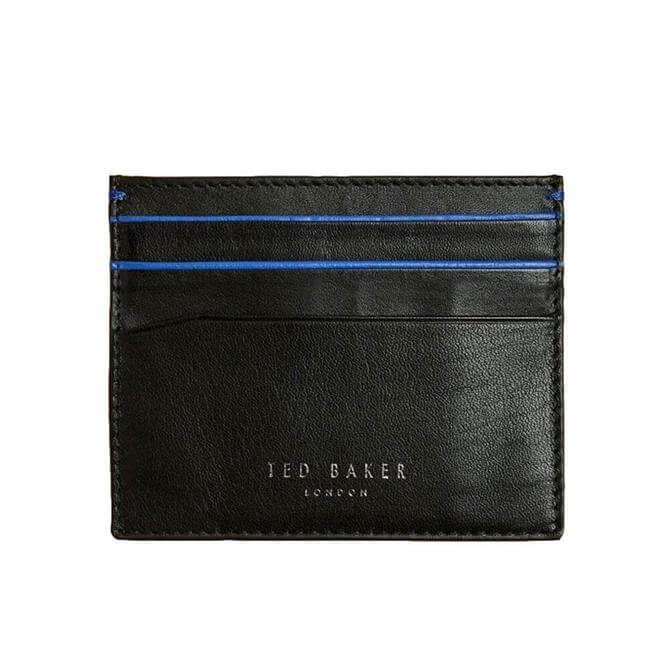 Ted Baker Kraspa Highlight Detail Black Leather Cardholder