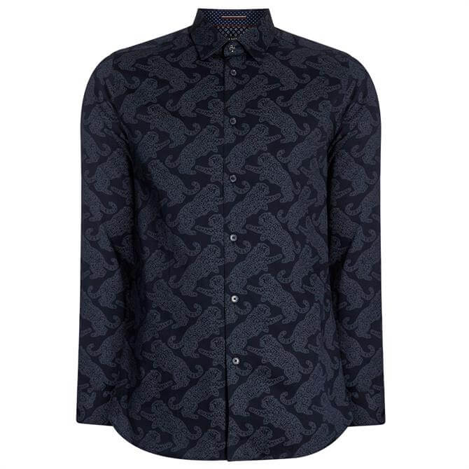 Ted Baker Getout Printed Cotton Shirt