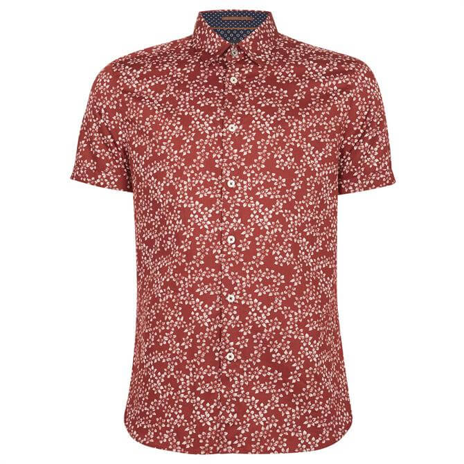 Ted Baker Yepyep Cotton Floral Printed Shirt