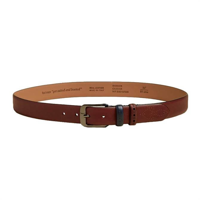 Ted Baker Auder Brogue Detail Leather Belt