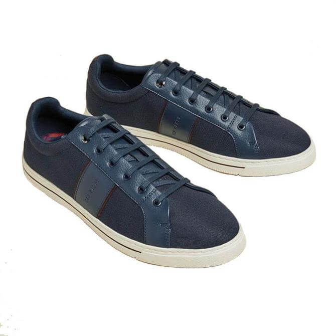 Ted Baker Eprod Navy Textured Branded Trainers