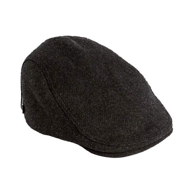 Ted Baker Order Charcoal Grey Wool Flat Cap