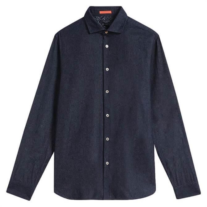 Ted Baker Yaki Plain Denim Shirt