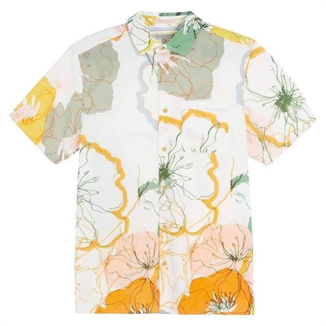 Ted Baker Knittin Oversized Print Shirt