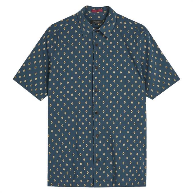 Ted Baker Ginton Short Sleeve Diamond Geo Print Shirt