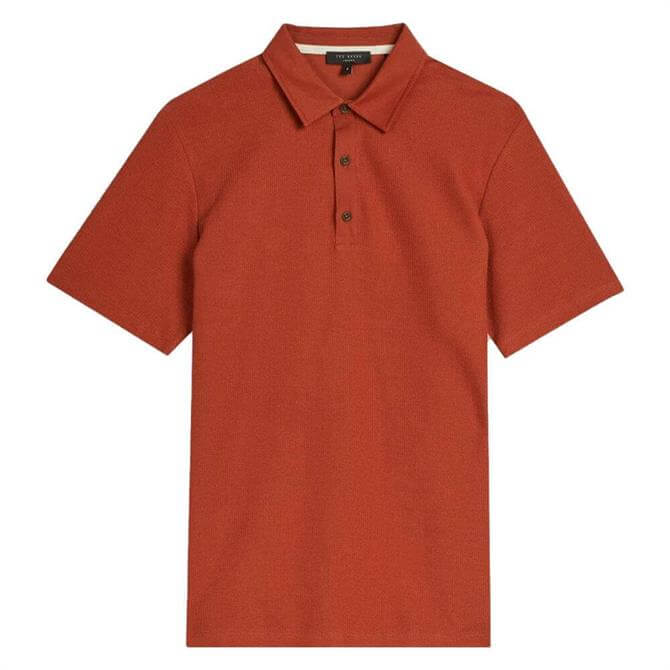 Ted Baker Strict Waffle Textured Polo Shirt