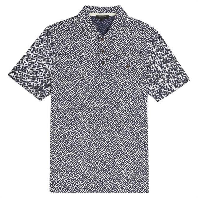 Ted Baker Micsup SS Small Scale Printed Polo Shirt