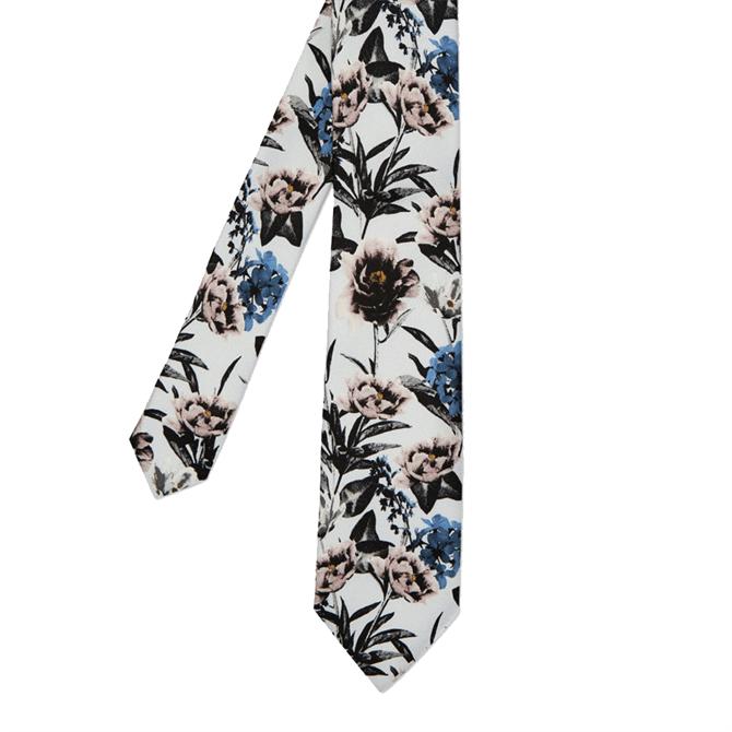 Ted Baker Boppy Floral Printed Silk Tie