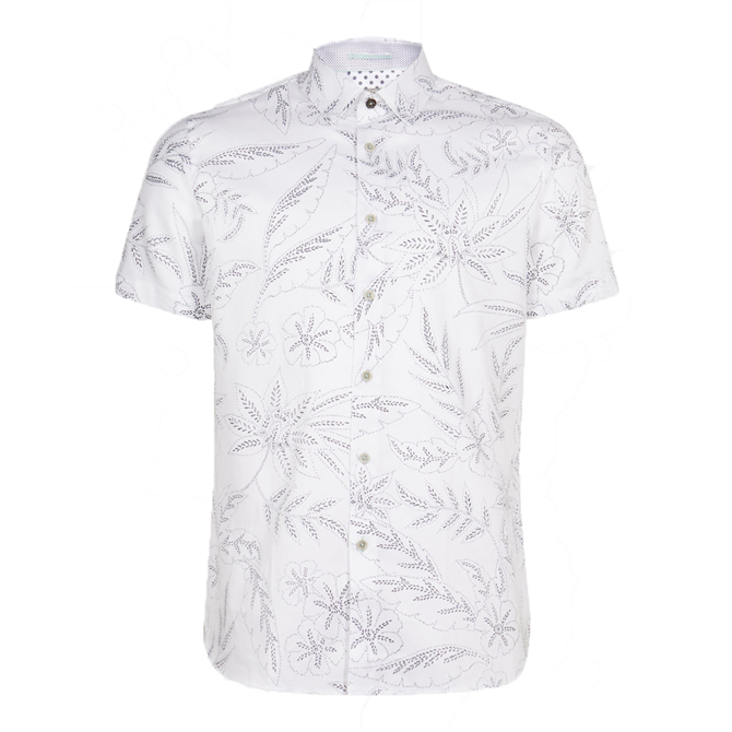 Ted Baker Damiem Floral Printed Cotton Shirt