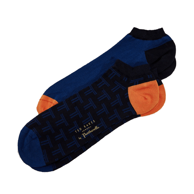 Ted Baker Daps Geo Print and Plain Sock Set