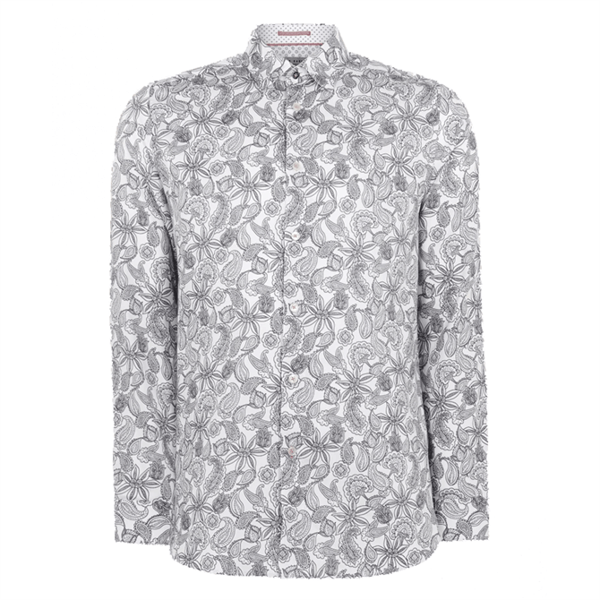 Ted Baker Forsure Paisley Print Cotton Shirt