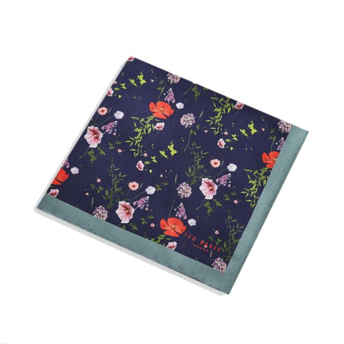 Ted Baker Hedgpok Floral Print Silk Pocket Square