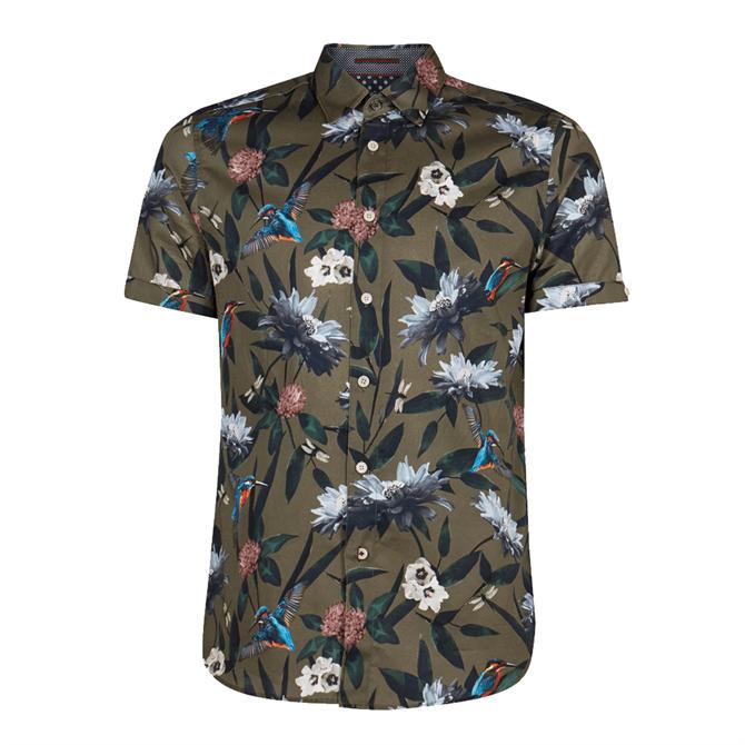 Ted Baker Johnn Floral Print Cotton Shirt