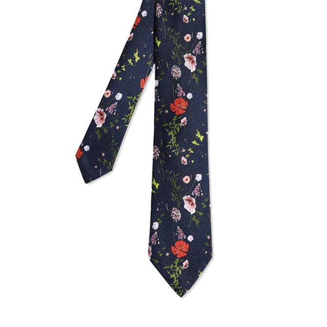 Ted Baker Kansal Floral Printed Silk Tie