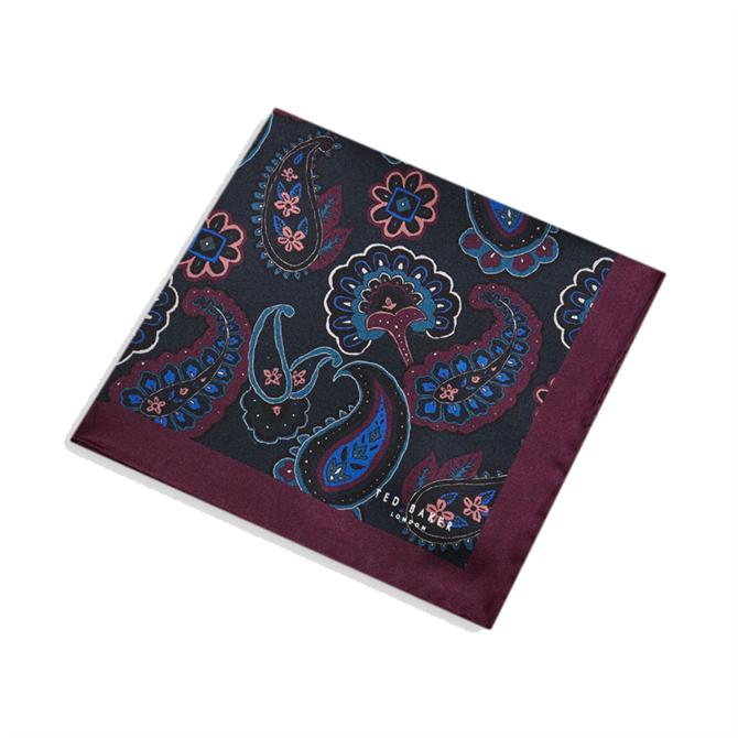 Ted Baker Kemming Paisley Silk Pocket Square