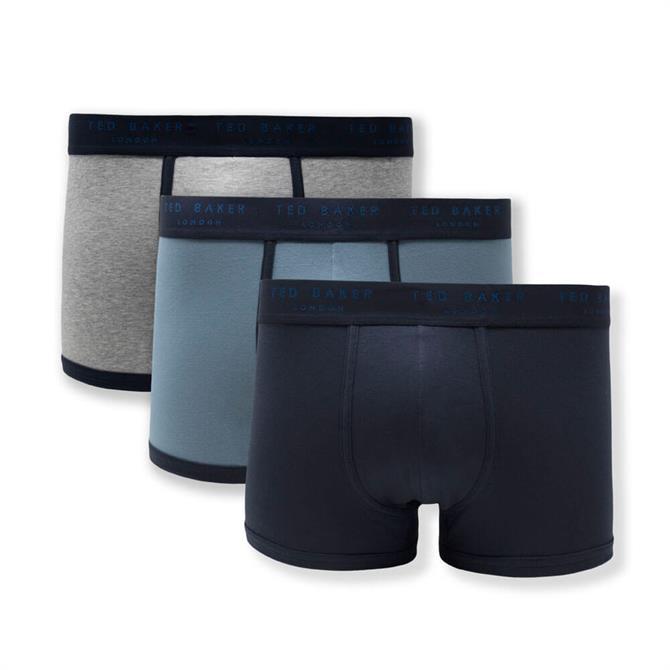 Ted Baker 3-Pack Blue Boxer Shorts