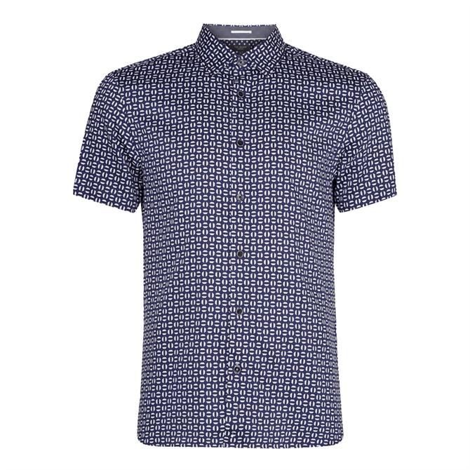 Ted Baker Steeve Geo Print Cotton Shirt