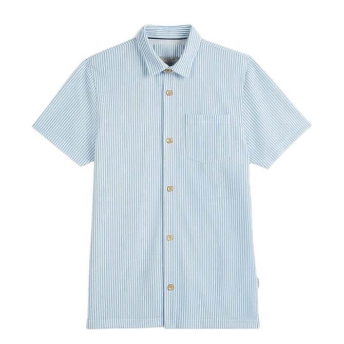 Ted Baker Vertical Stripe Jersey Shirt - Blue