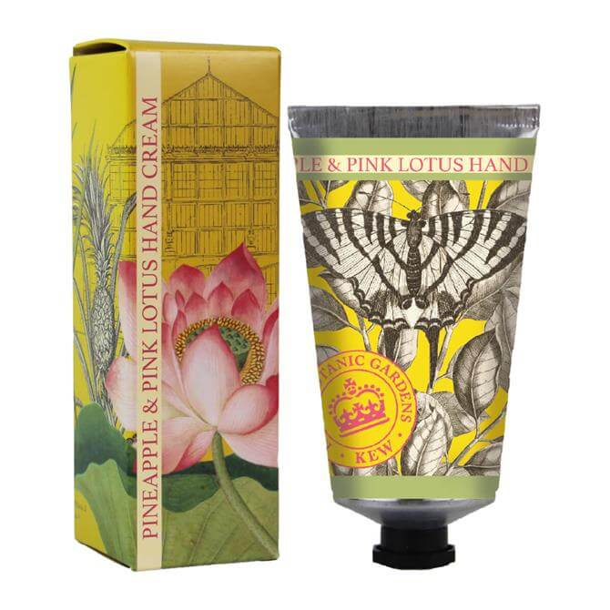 The English Soap Company Kew Gardens Hand Cream 75ml Pineapple & Pink Lotus