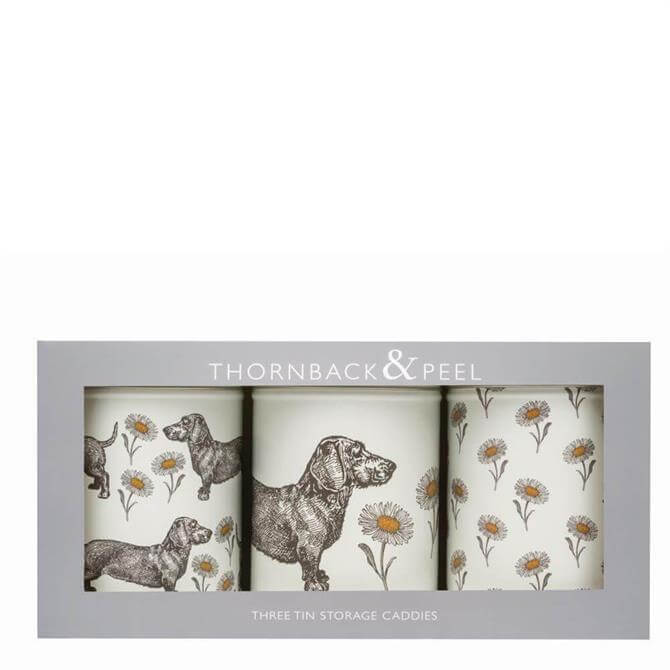 Thornback & Peel Dog & Daisy Set of 3 Caddy Tins