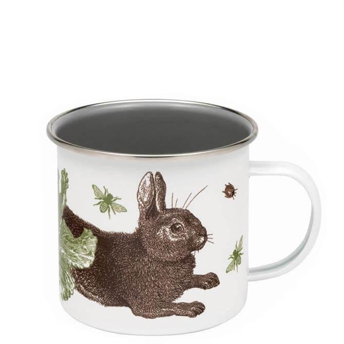 Thornback & Peel Rabbit & Cabbage Enamel Mug