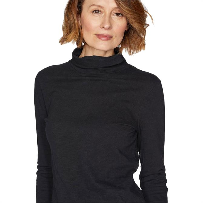 Thought Claudia Organic Cotton Roll Neck Top